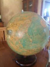 Globe terrestre Ancien Anglais! Marque Philips Gros Globe Milieu 20e