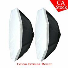 "2 x Godox Octagon 120cm 47"" Bowen Mount Softbox For Studio Strobe Head Monolight"