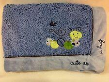"BABIES R US Blue CUTE AS A BUG Soft Baby BLANKET Caterpillar 38"" x 28"" Koala"