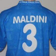 Paolo Maldini XL Italy Dri Fit Soccer Shirt Jersey #3 Blue World Cup AC Milan