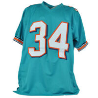 Ricky Williams Miami Dolphins NFL #34 Signed Autograph Custom Aqua Jersey XL Smo
