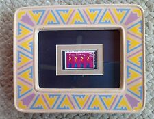FRAMED  & DOUBLE MATTED HAPPY BIRTHDAY UNITED STATES UNUSED 1988 POSTAGE STAMP