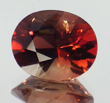 OREGON SUNSTONE  RASPBERRY RED ORANGE AND GOLD FLASHES 3.18 CT  SEE VIDEO