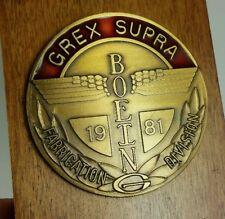 RARE Vtg Boeing Grex Supra Fabrication Division Service Award Bronze Totem Medal
