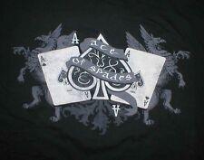 Ace of Spades Poker cards Gargoyle Brand NEW Mens Black Tee T-shirt 5X 5XL