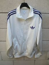 Veste ADIDAS rétro vintage blanc violet couleur ANDERLECHT tracktop jacket M