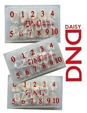 DND Natural, Natural or Clear Sillito -Nail Tips SIZE 0-10 (550 pcs) -You Choose
