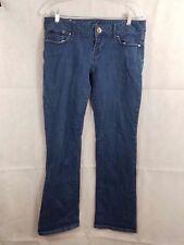 Guess Blue Denim 5-Pocket Rhinestone Logo Jeans Size 31 EUC!!!
