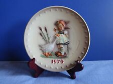 """M.I. Hummel Goebel Collector Plates 1974 4th Annual """"Goose Girl"""""""
