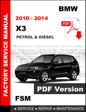 2010 2011 2012 2013 2014 BMW X3 WORKSHOP SERVICE REPAIR FACTORY FSM MANUAL