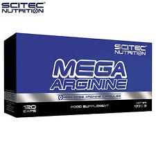 MEGA Arginina 120 CAPS FORTE L-Arginina Muscle Pump ossido nitrico n. BOOSTER sesso