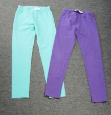 HANNA ANDERSSON Lot Of 2 Green Purple Cotton Blend Girl's Pants Size 140 GG3271
