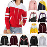 Women Jacket Hoodies Autumn Coat Hooded Zip Outwear Tops Thin Sport Windbreaker