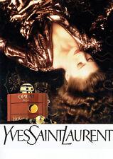 Publicité Advertising 107  1990  Yves Saint Laurent  parfum femme Opium