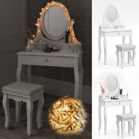 Dressing Table + Stool Makeup Table Storage Mirror Bedroom Vanity table Blois