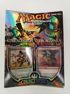 MTG CaBalleros (Knights) vs Dragones (Dragons) SPANISH + Bonus Booster Pack