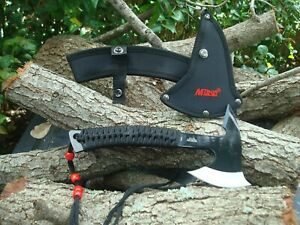 "Collectible Axe-8.75"" OVERALL-Gift Daddy- Axes Camping- Black and Red 629"