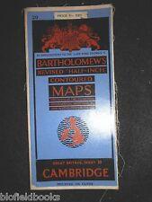 VINTAGE MAPPA DI CAMBRIDGE - 1947-Bartolomeo RIVISTA mezzo pollice sagomato 20