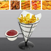 French Fry Stand Metal Cone Basket Holder for Fries Fish/Chips/Appetizers #1
