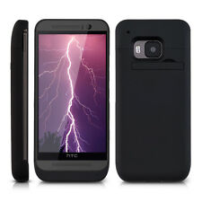 kwmobile EXTERNAL BATTERY CASE FOR HTC ONE M9 3200MAH BLACK PORTABLE POWER PACK