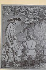 Illustration Jean-Emile LABOUREUR maquette pour l'héritier du diable vers 1930