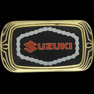 Suzuki Motorrad Dirtbike Motocross Enduro Messing 80s 1983 Vtg Gürtel Schnalle