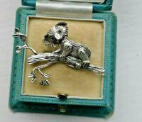 Vintage Jewellery adorable cute old Art Deco solid silver Koala, Bear brooch