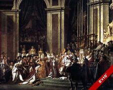 NAPOLEON CROWNING JOSEPHINE IN NOTRE DAME CATHEDRAL PAINTING ART CANVAS PRINT