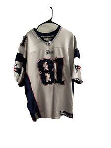 Randy Moss Patriots Jersey (2XL  Adult) Reebok GREAT Cond. Size 52,  Heavy Knit