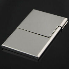 Silver Stainless Steel Business Card Holder Case Credit ID Card Purse Wallet