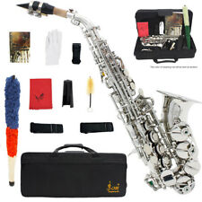 LADE Brass Golden Carve Pattern Bb Bend Althorn Soprano Saxophone Sax H4F3
