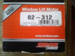 82-312 Cardone  New Window Lift Motor fits 78 to 92 Ford Bronco, Pickup, S.D.