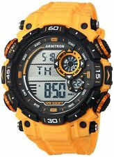 Armitron Men's Yellow Resin Watch, 100 Meter WR, Chronograph, 40/8397YLW