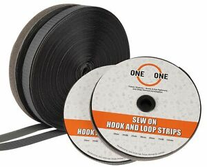 oneOone Sew On Hook and Loop Fabric Fastener Strips Non Adhesive-lD3