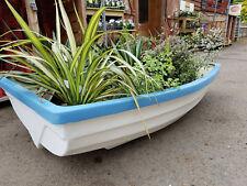 Project fibreglass rowing boat, garden planter, garden feature