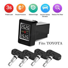 For Toyota Wireless TPMS PSI/BAR Tire Tyre Pressure Monitor System+4 Sensors LCD