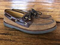 """Men's Sperry Gold Cup """"Authentic Original"""" Boat Shoes Brown Leather Size 10 M"""