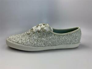 KEDS for KATE SPADE Champion Sneakers Glitter Cream Women's 11M