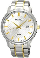 SEIKO SUR197P1 Neo Classic Date 2 tone WR 100m 2 Year Guarantee RRP £179.00