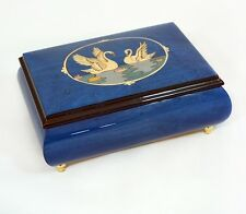 Made in Italy Sorrento Swans Inlay Music Box - Cannon in D ( Sankyo18 Note)