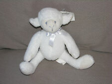 VINTAGE GYMBOREE STUFFED PLUSH WHITE SHEEP LAMB BABY TOY LOVEY BEAN BAG 7""