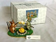 """Charming Tales """"Toasting Marshmallows� Figurine Fitz and Floyd In Box + Tag"""