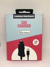 iPhone Car Charger 1.8 Meter 1 Amps/ 5 Watts For All Apple Devices Brand New