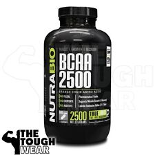 NUTRABIO - BCAA 2500 500caps -Branch Chain Amino Acids- MUSCLE /GROWTH /RECOVERY