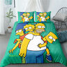 Linen The Simpsons Single/Double/Queen/King Bed Quilt Doona Duvet Cover Set