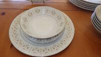 Fine China Dinnerware Set Rose Manor by Fine China of Japan Service 6 19 pc set