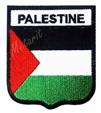 #A8 - PALESTINE Crest Flag Iron On Patch Aufbügler Applique Ecusson Wappe Fahne