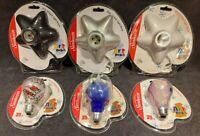 2002 Sunbeam Art Bulb 25w Hand Painted  Medium Base Bulbs And Star Shape Bases