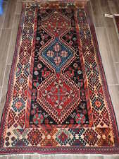 Semi Antique Irregular Persian Yalameh Wool Rug 4x7ft.