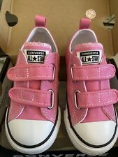 Converse Chuck Taylor All Star 2V Infant Trainer Size 9 UK Infant PINK New